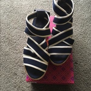 Tory Burch Espadrilles Wedges 100% Authentic
